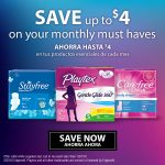 Imprime y ahorra en productos Carefree®, Stayfree® y Playtex®